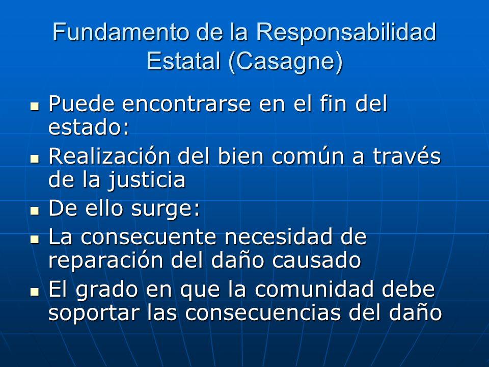 Fundamento de la Responsabilidad Estatal (Casagne)