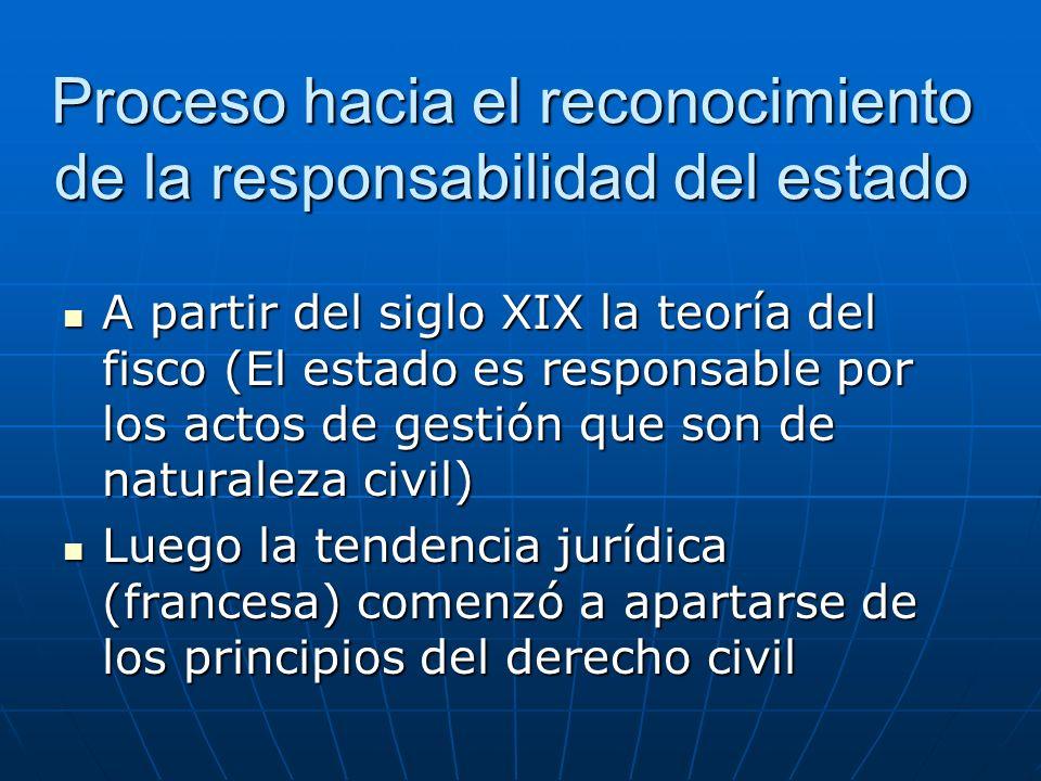 Proceso hacia el reconocimiento de la responsabilidad del estado