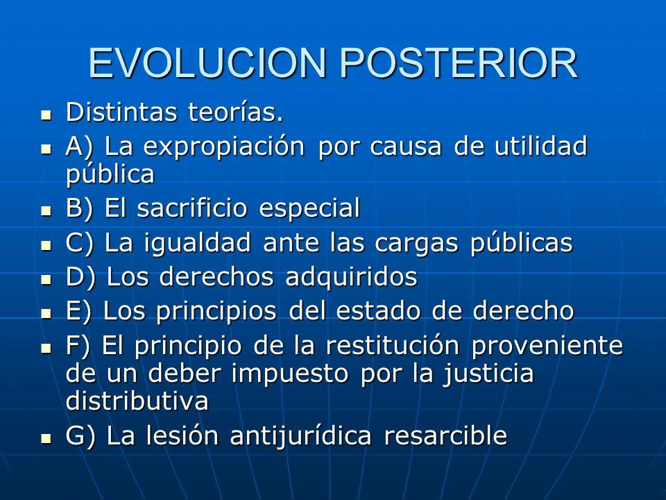 EVOLUCION POSTERIOR Distintas teorías.