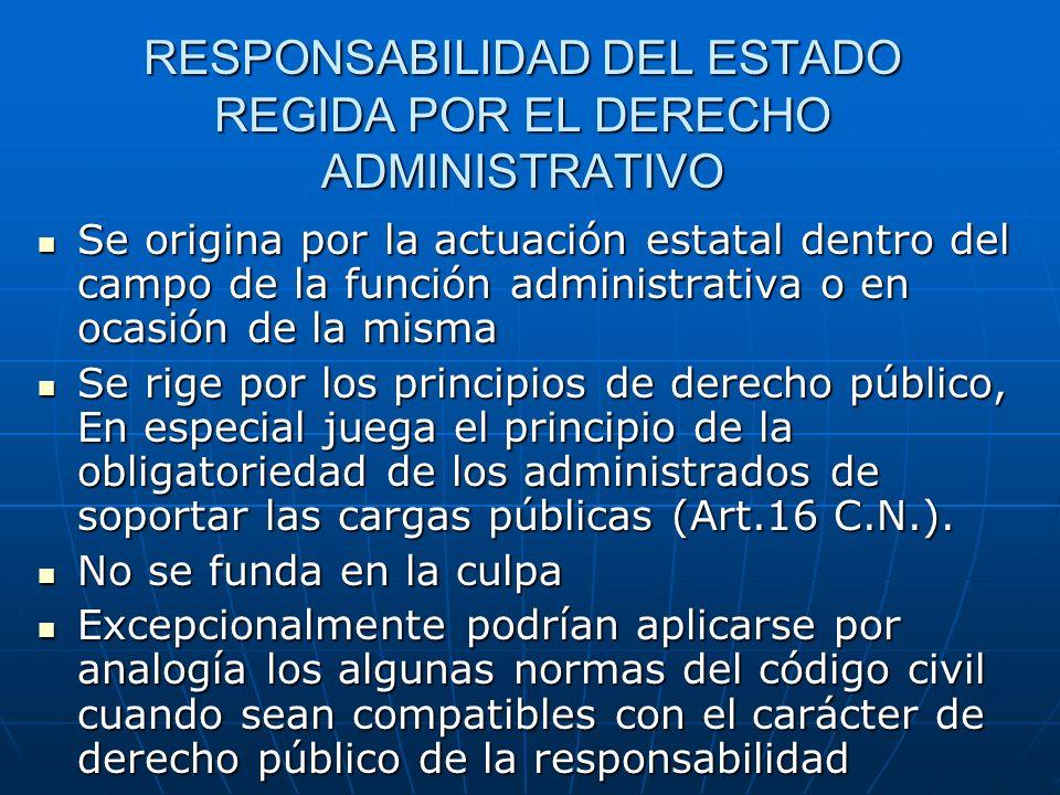 RESPONSABILIDAD DEL ESTADO REGIDA POR EL DERECHO ADMINISTRATIVO