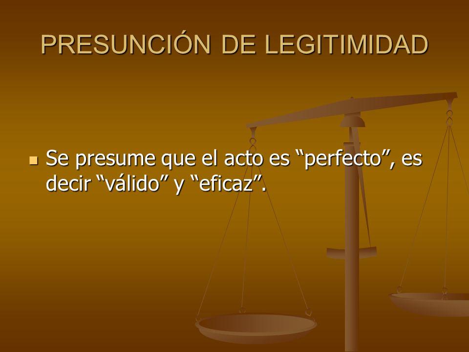 PRESUNCIÓN DE LEGITIMIDAD