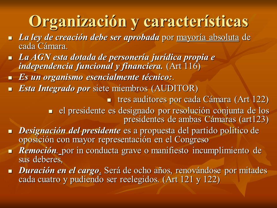 Organización y características