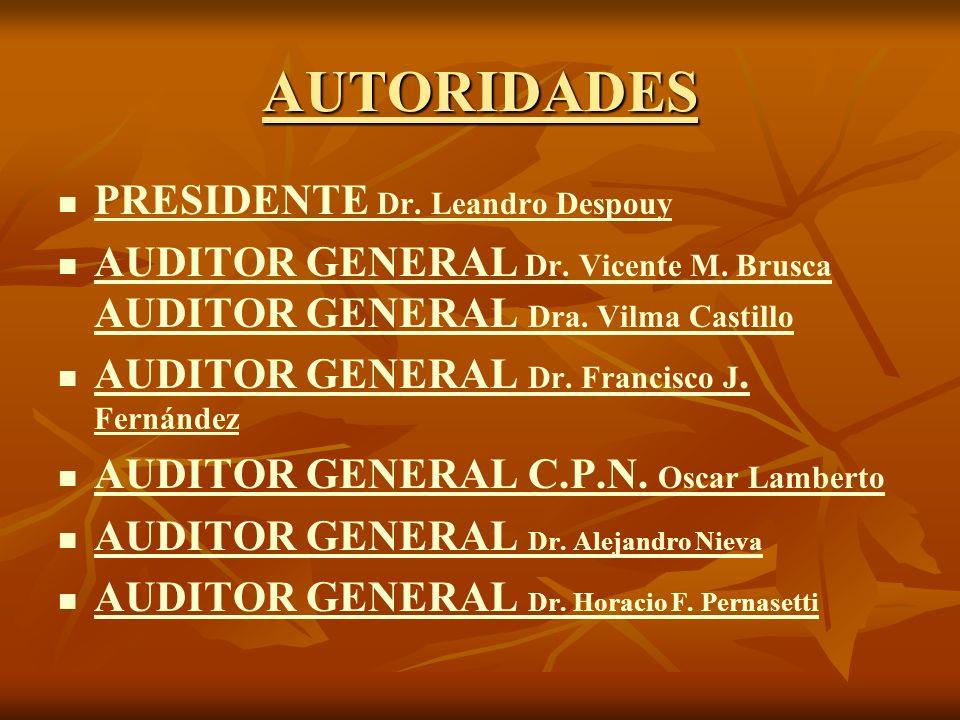 AUTORIDADES PRESIDENTE Dr. Leandro Despouy