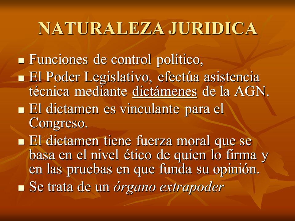 NATURALEZA JURIDICA Funciones de control político,