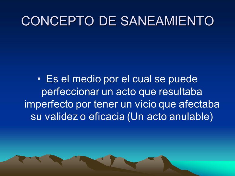 CONCEPTO DE SANEAMIENTO