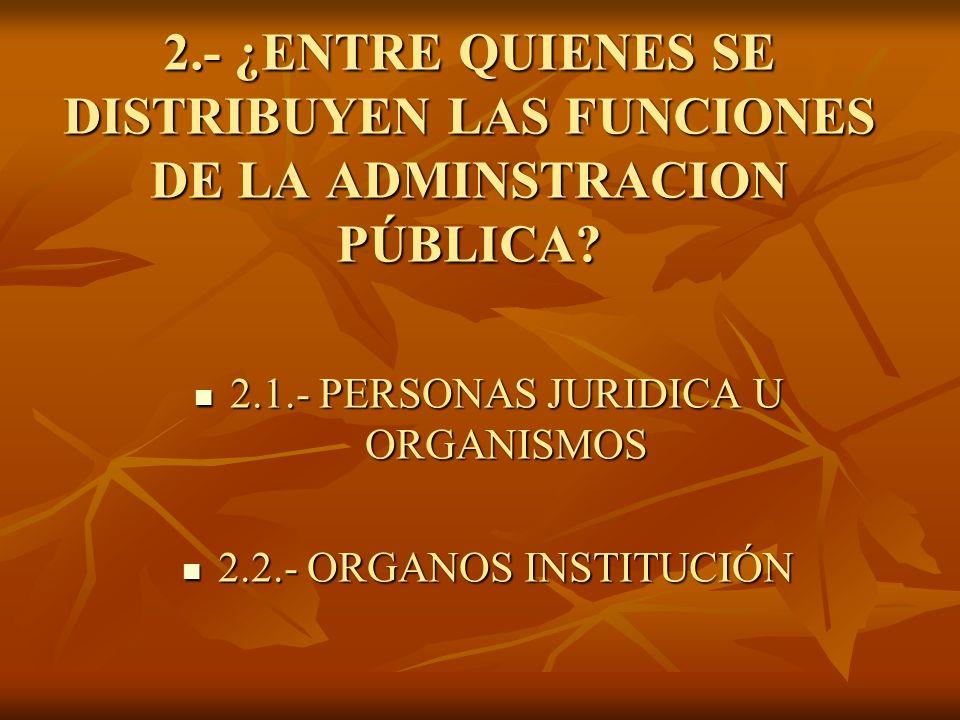 2.1.- PERSONAS JURIDICA U ORGANISMOS