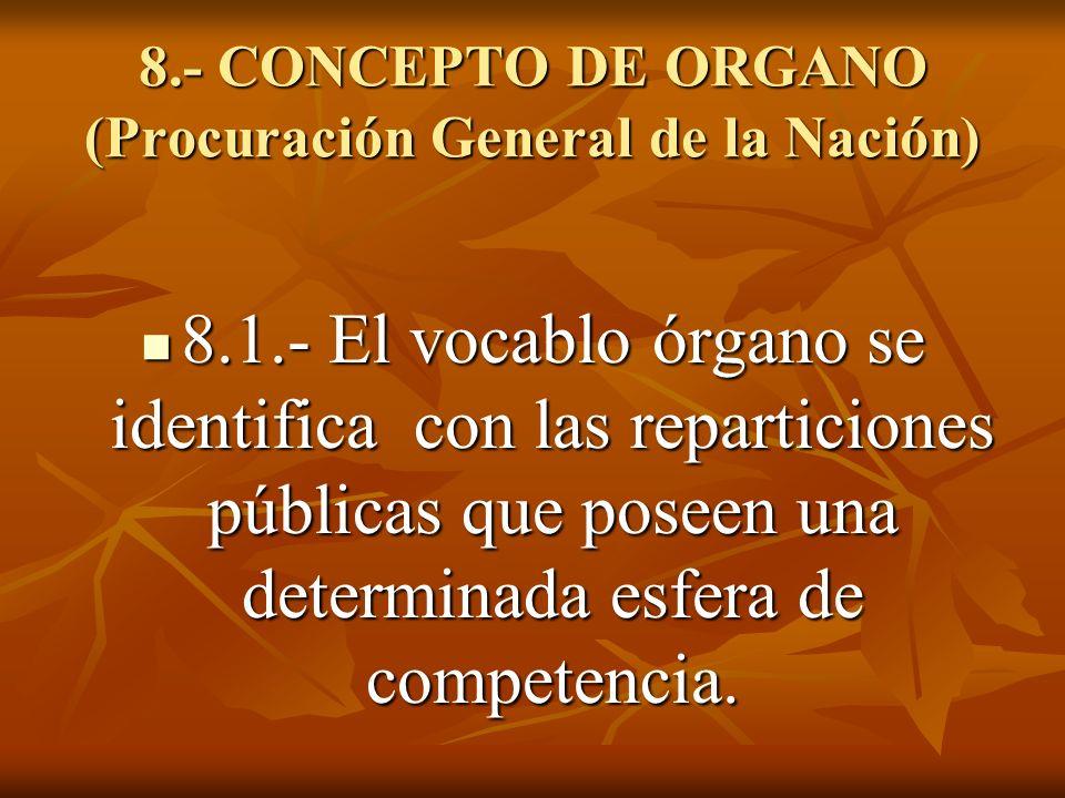 8.- CONCEPTO DE ORGANO (Procuración General de la Nación)