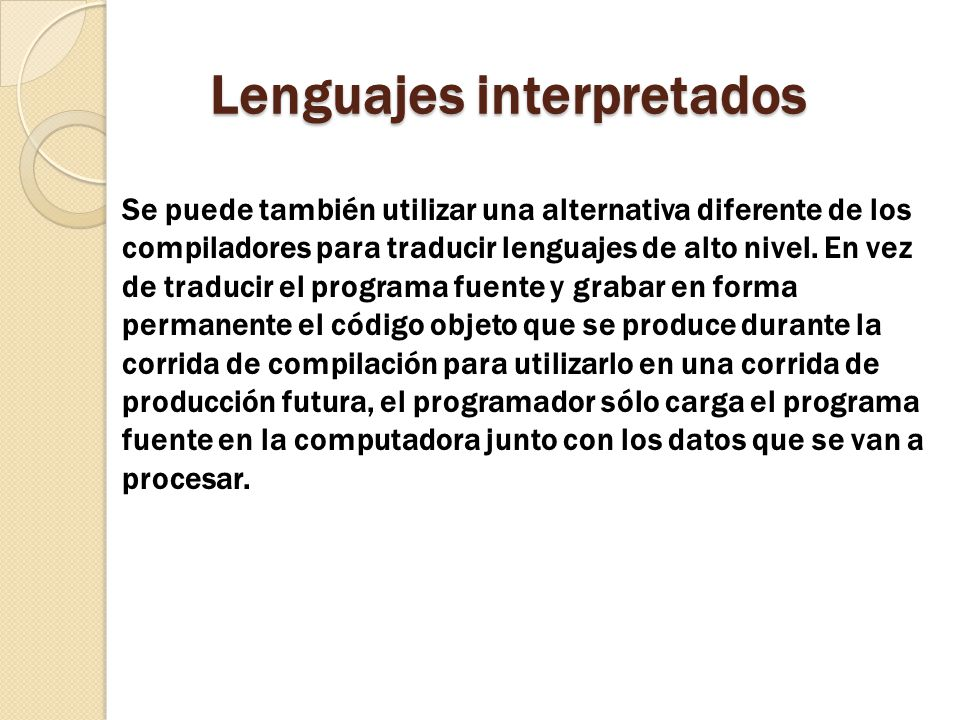 Lenguajes interpretados