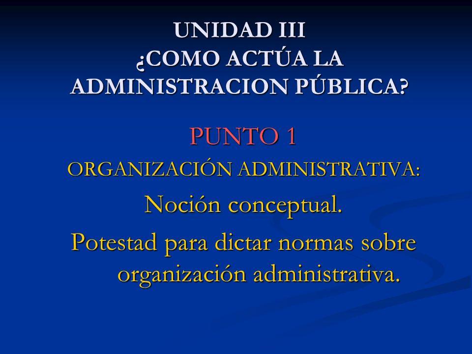 UNIDAD III ¿COMO ACTÚA LA ADMINISTRACION PÚBLICA