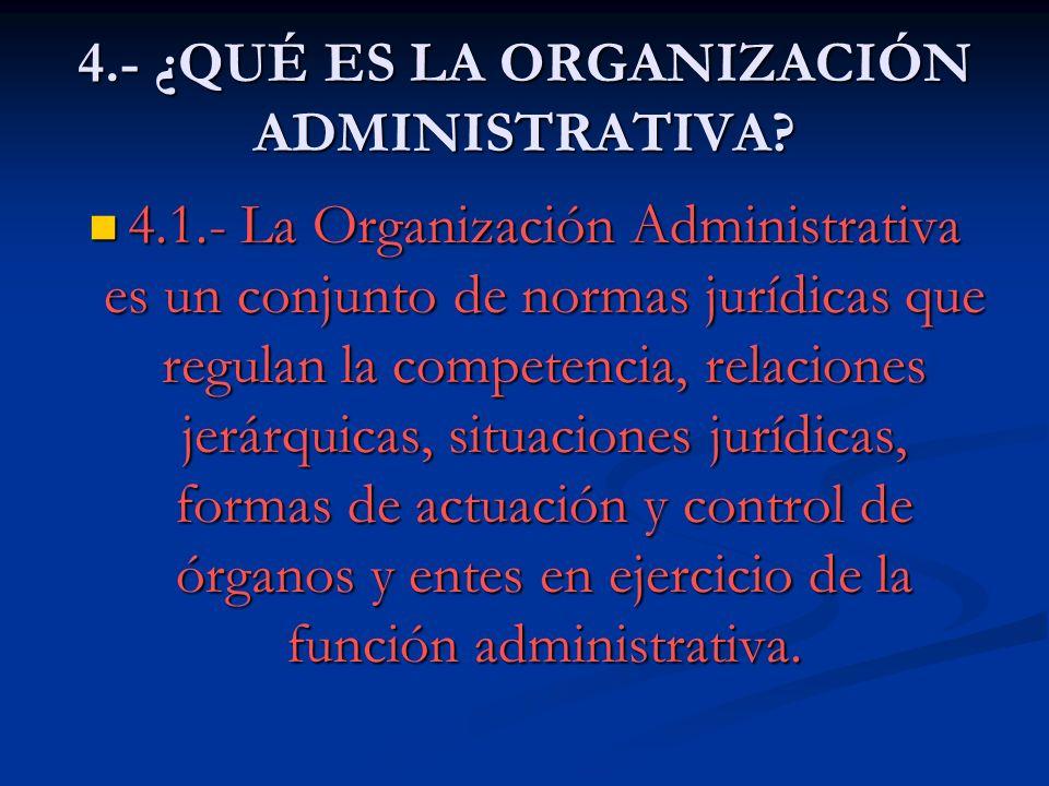 4.- ¿QUÉ ES LA ORGANIZACIÓN ADMINISTRATIVA