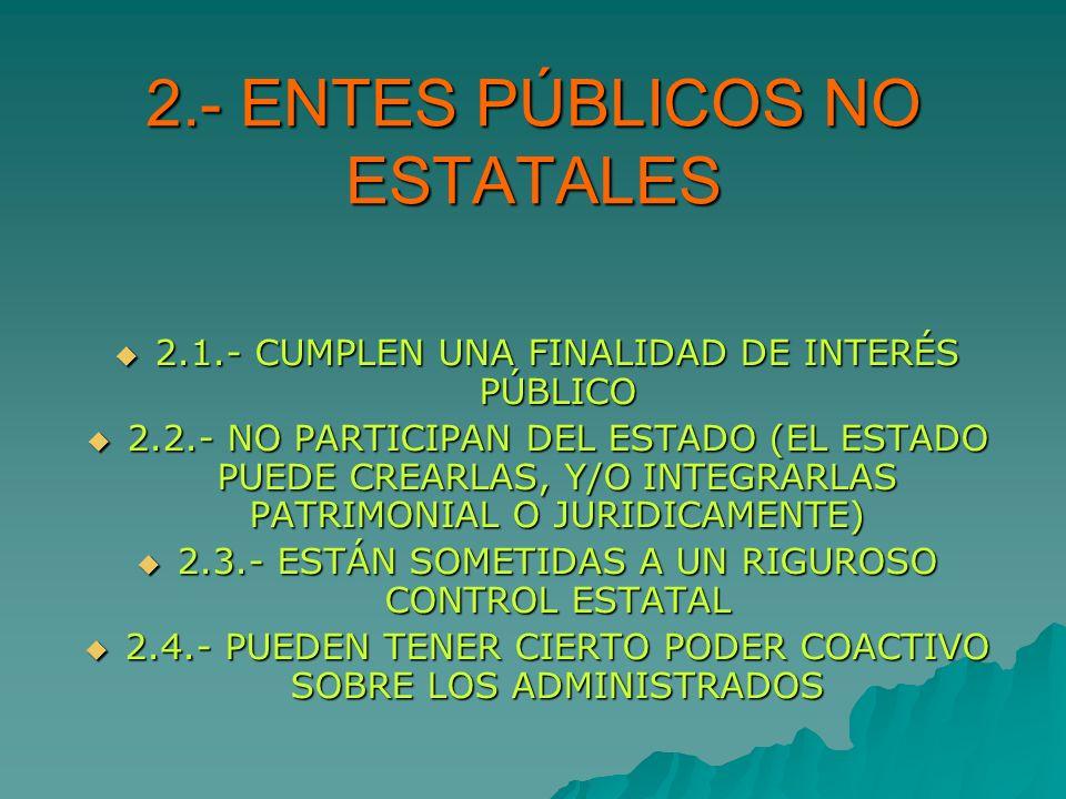 2.- ENTES PÚBLICOS NO ESTATALES