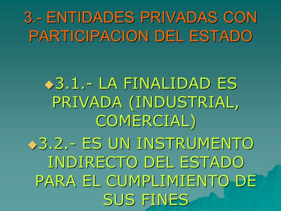 3.- ENTIDADES PRIVADAS CON PARTICIPACION DEL ESTADO