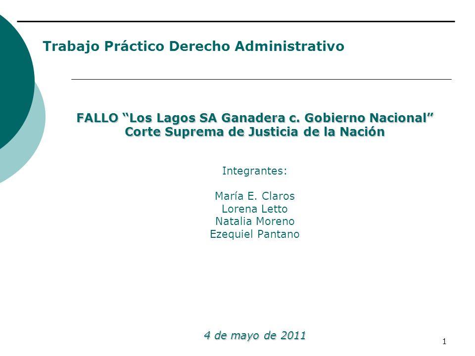 Trabajo Práctico Derecho Administrativo