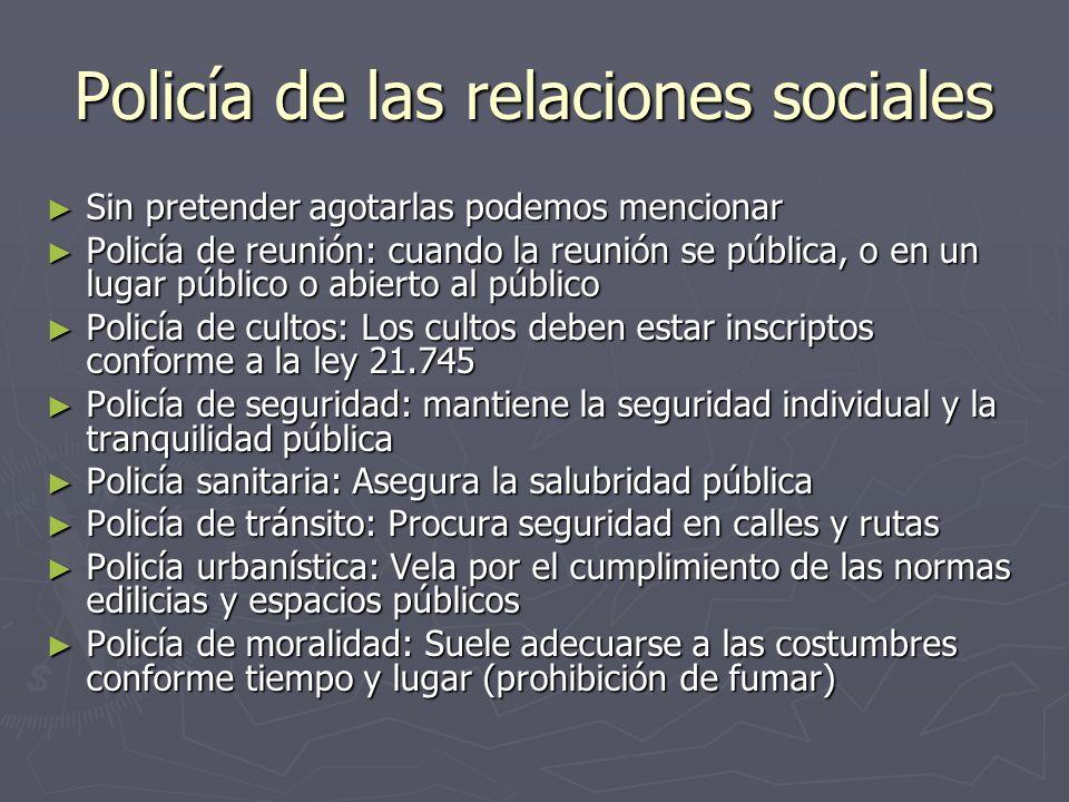 Policía de las relaciones sociales