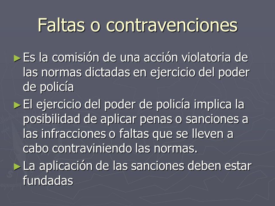 Faltas o contravenciones