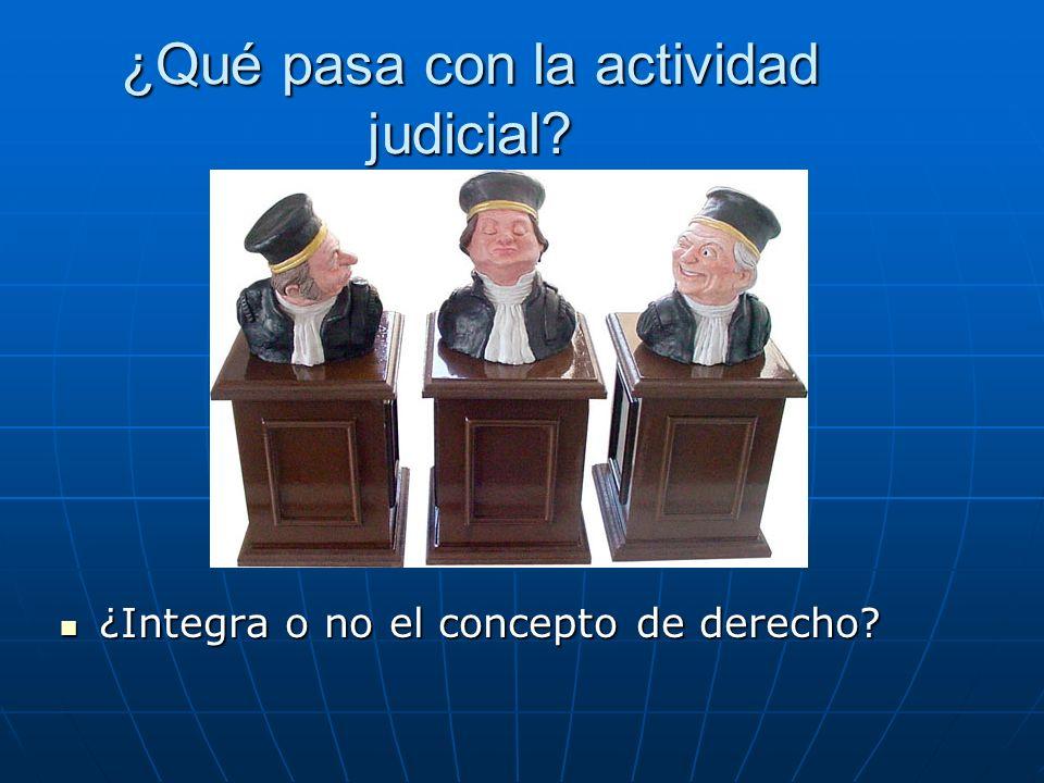 ¿Qué pasa con la actividad judicial