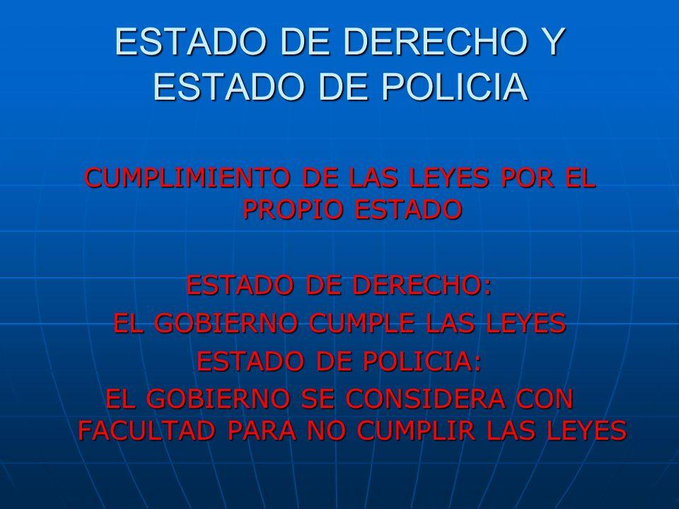 ESTADO DE DERECHO Y ESTADO DE POLICIA