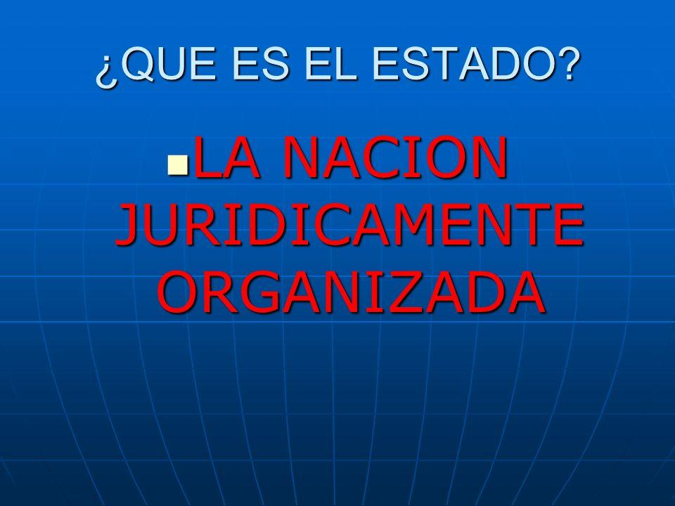 LA NACION JURIDICAMENTE ORGANIZADA