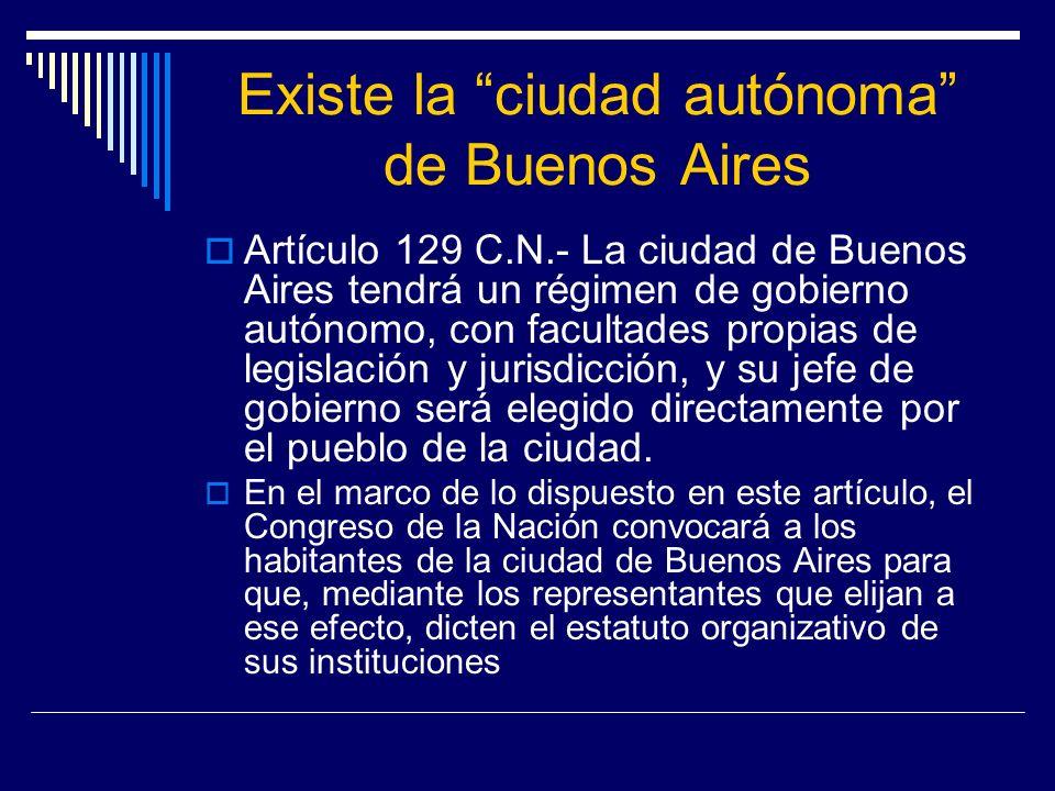 Existe la ciudad autónoma de Buenos Aires