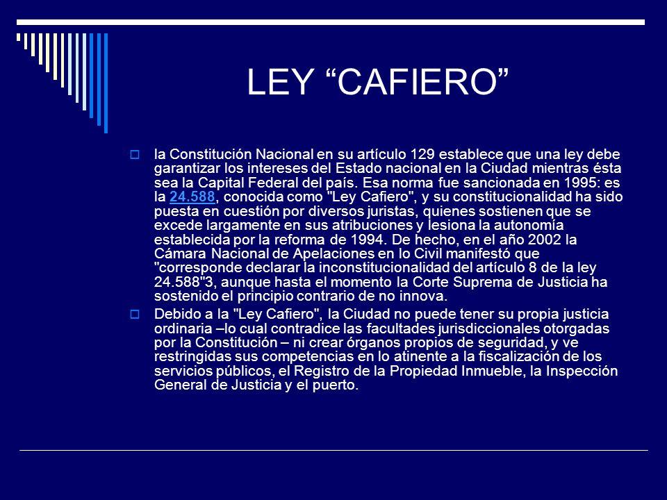 LEY CAFIERO
