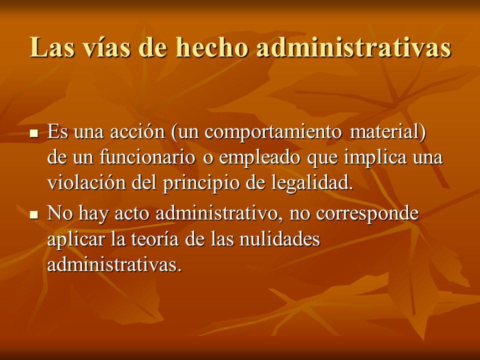 Las vías de hecho administrativas