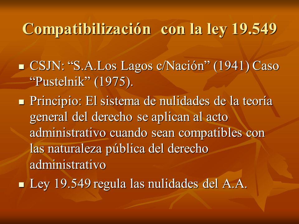 Compatibilización con la ley 19.549