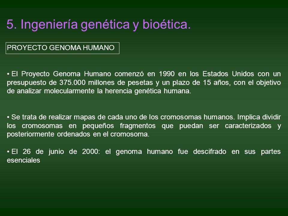 5. Ingeniería genética y bioética.