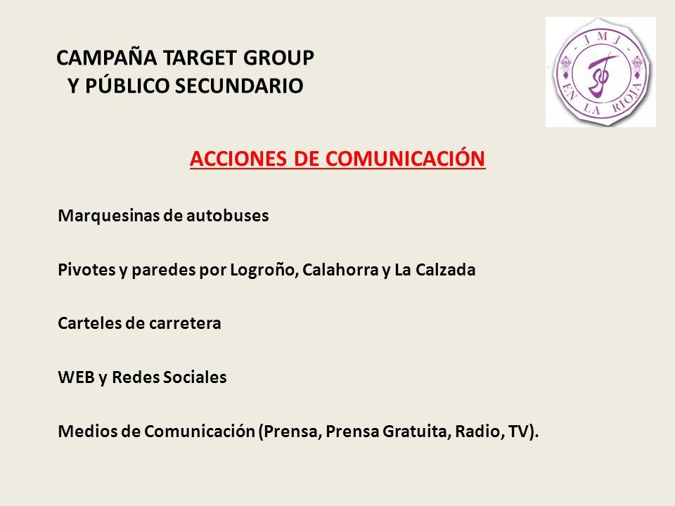 CAMPAÑA TARGET GROUP Y PÚBLICO SECUNDARIO