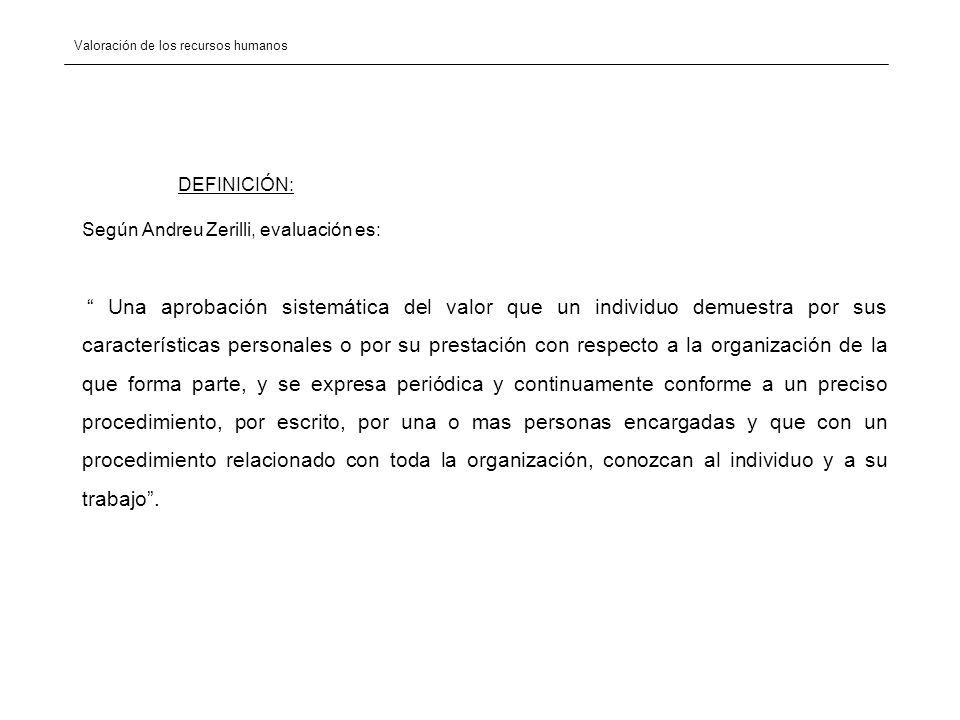 Según Andreu Zerilli, evaluación es: