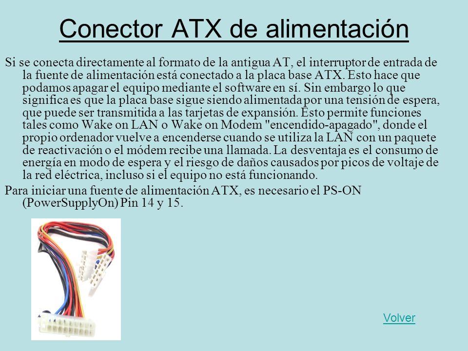 Conector ATX de alimentación