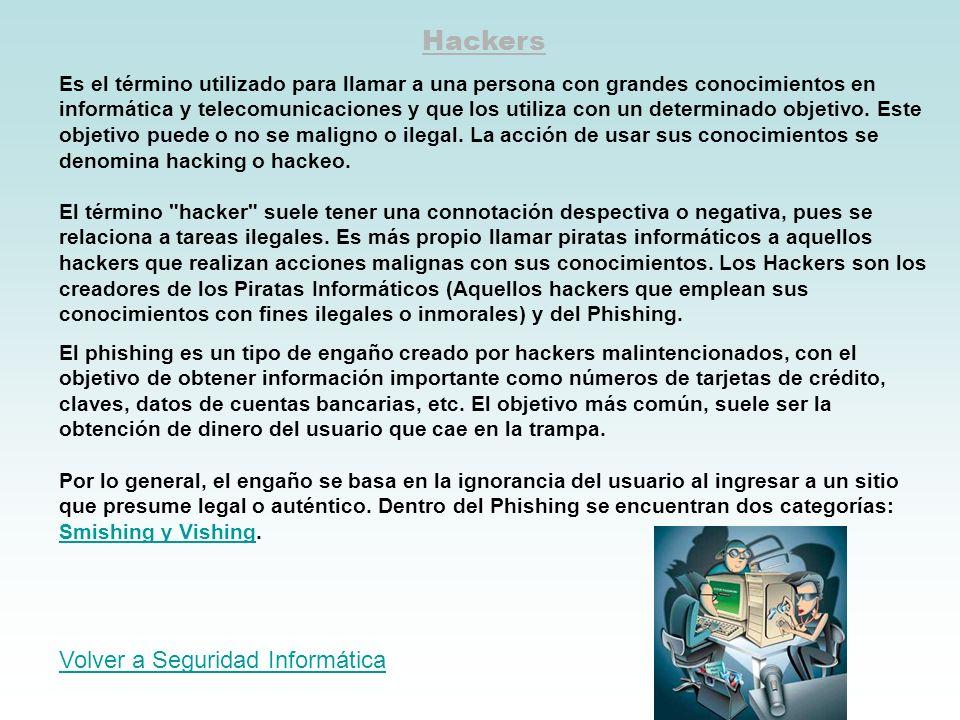 Hackers Volver a Seguridad Informática