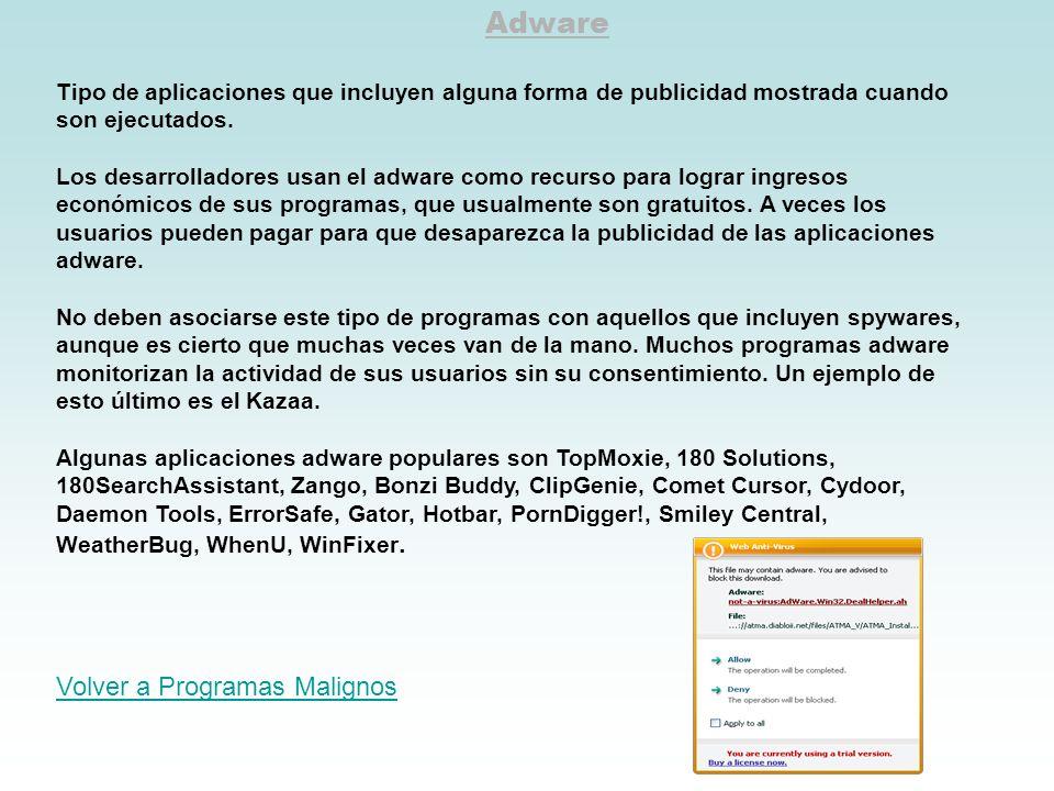 Adware Volver a Programas Malignos