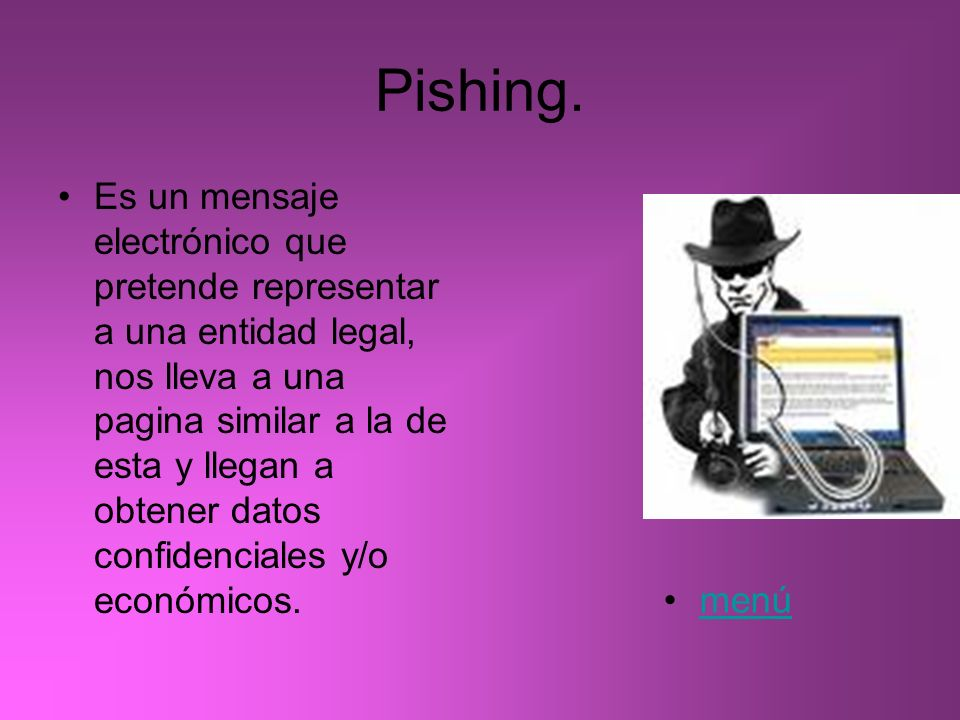 Pishing.