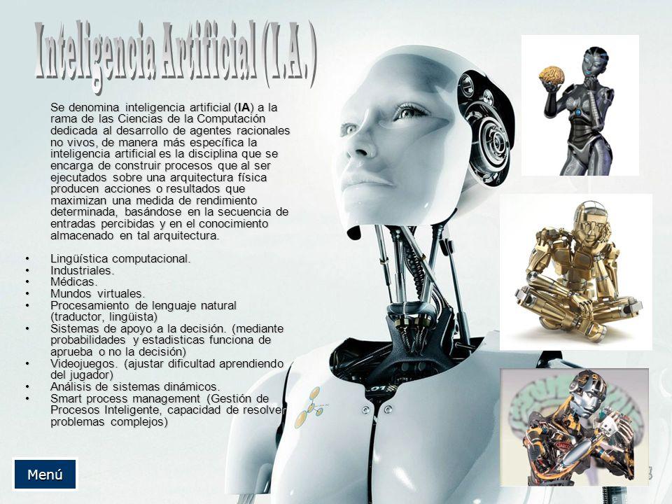 Inteligencia Artificial (I.A.)