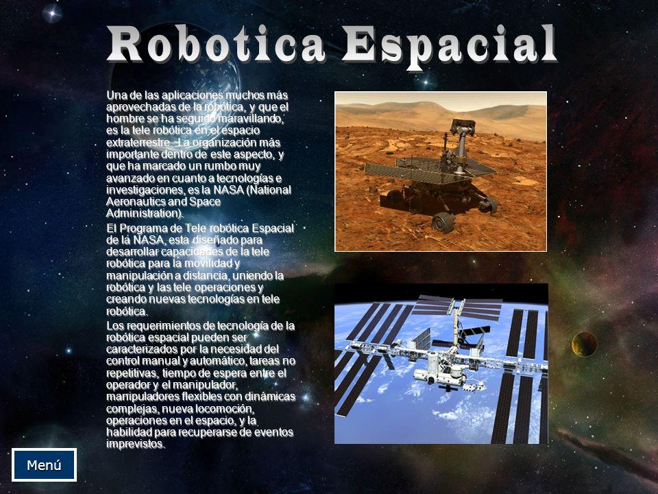 Robotica Espacial Menú