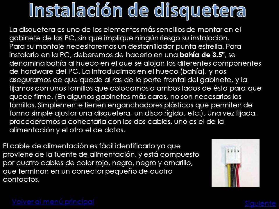 Instalación de disquetera
