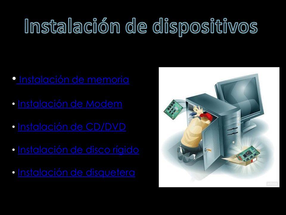 Instalación de dispositivos