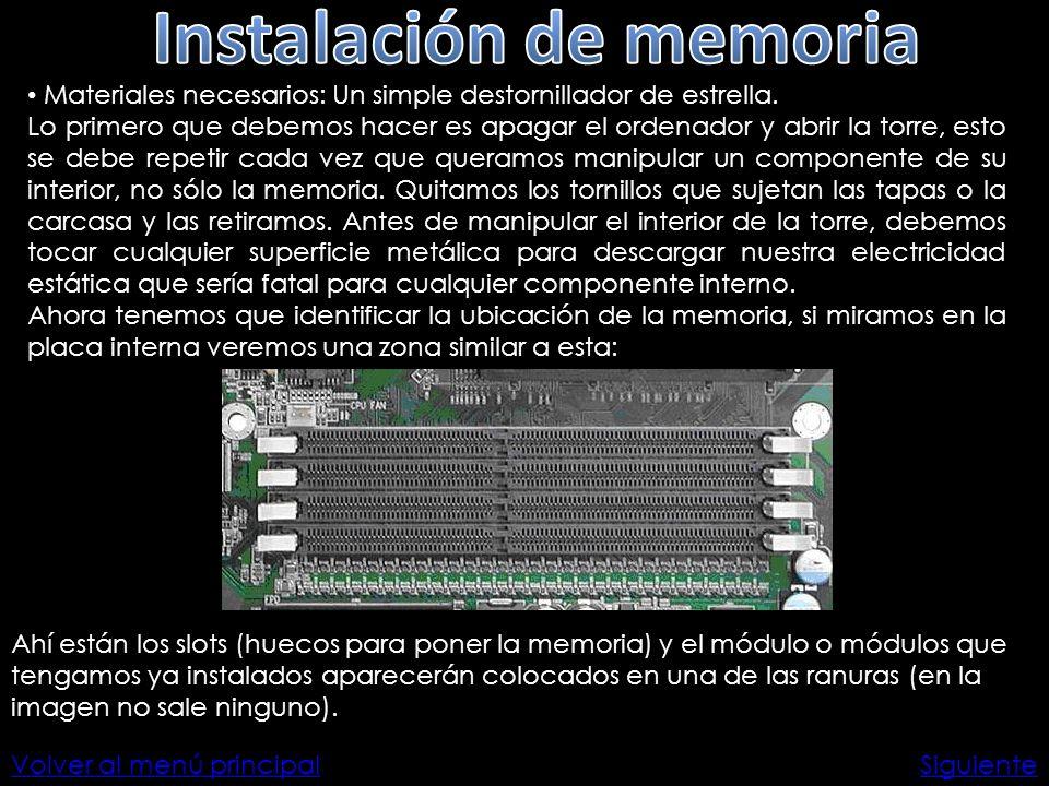 Instalación de memoria