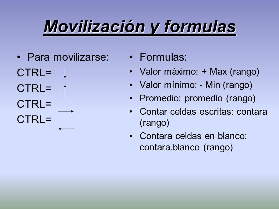 Movilización y formulas