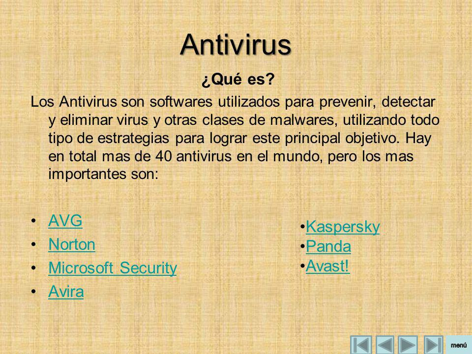 Antivirus ¿Qué es AVG Norton Microsoft Security Avira Kaspersky Panda
