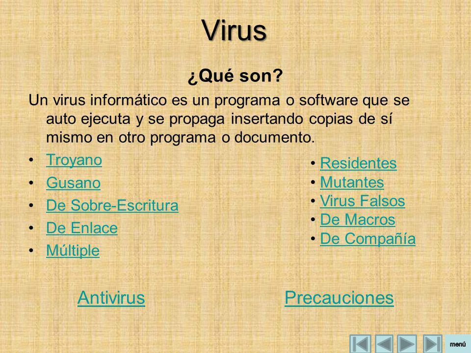 Antivirus Precauciones