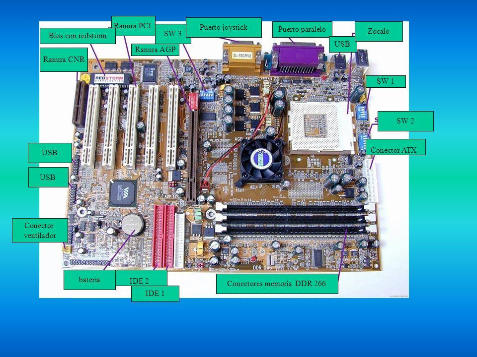 Conectores memoria DDR 266