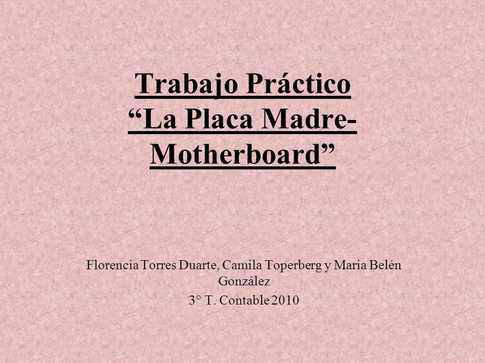 Trabajo Práctico La Placa Madre-Motherboard