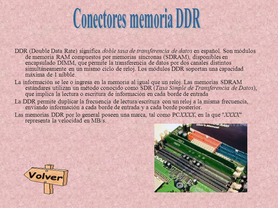 Conectores memoria DDR