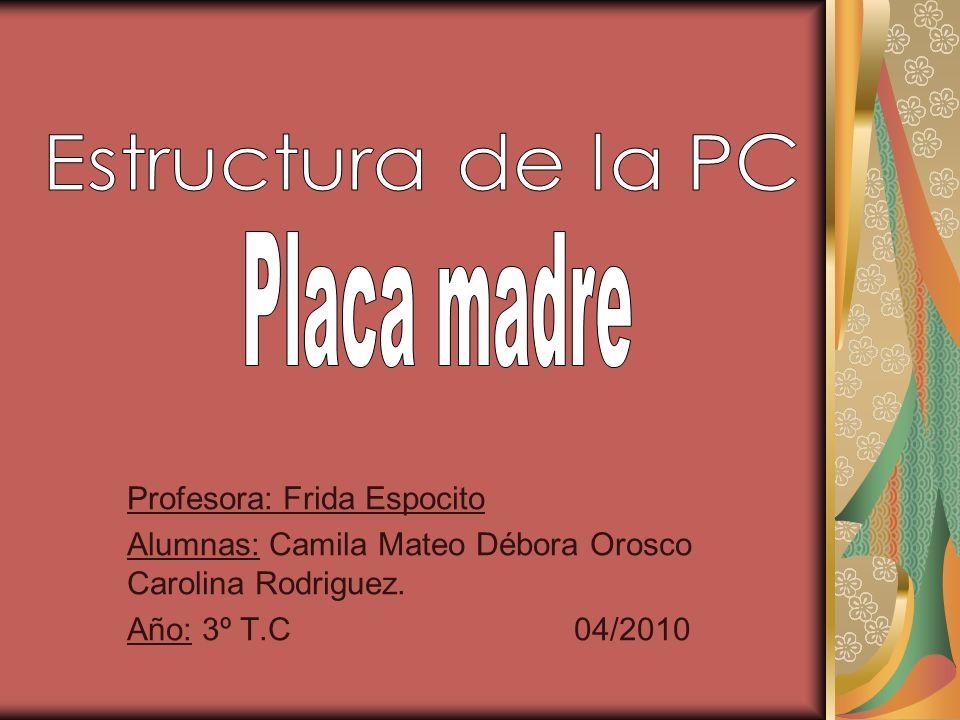 Estructura de la PC Placa madre Profesora: Frida Espocito