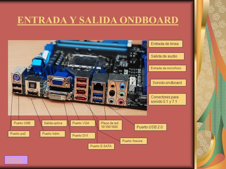 ENTRADA Y SALIDA ONDBOARD