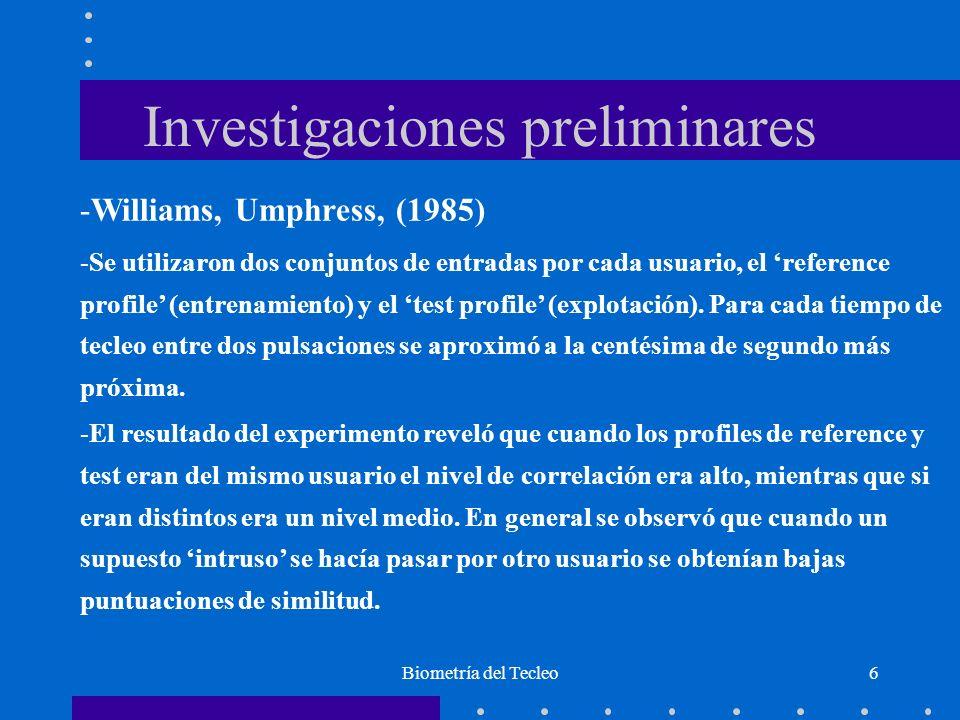 Investigaciones preliminares