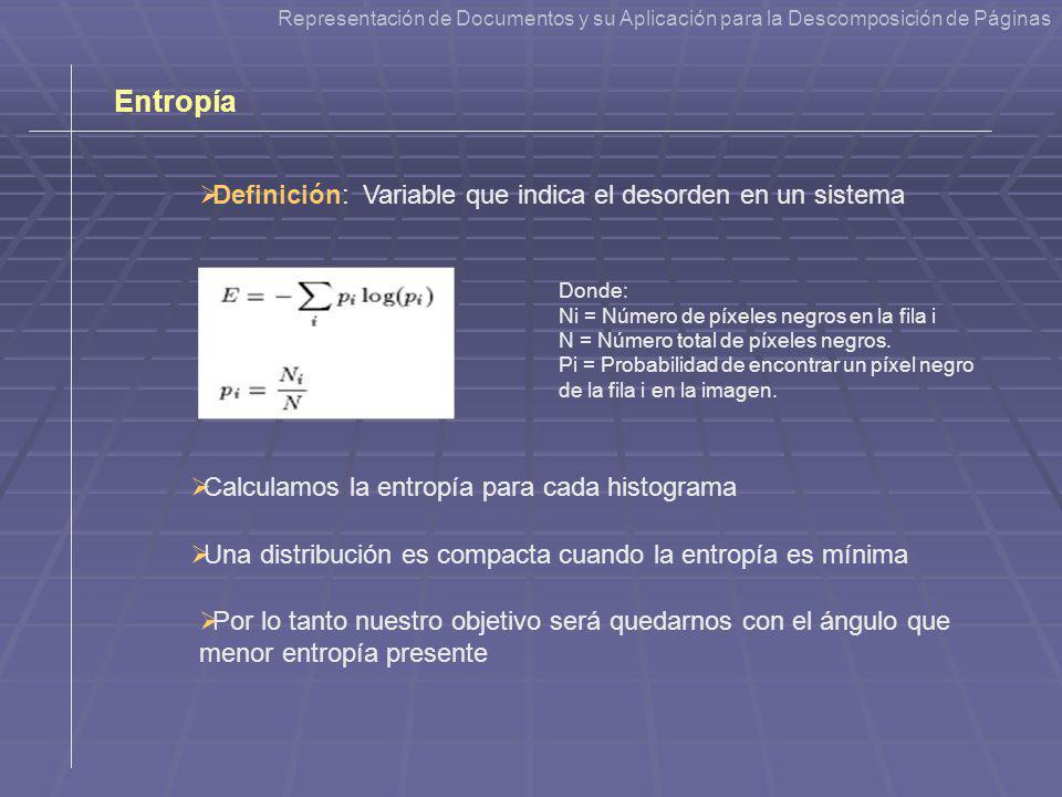 Definición: Variable que indica el desorden en un sistema