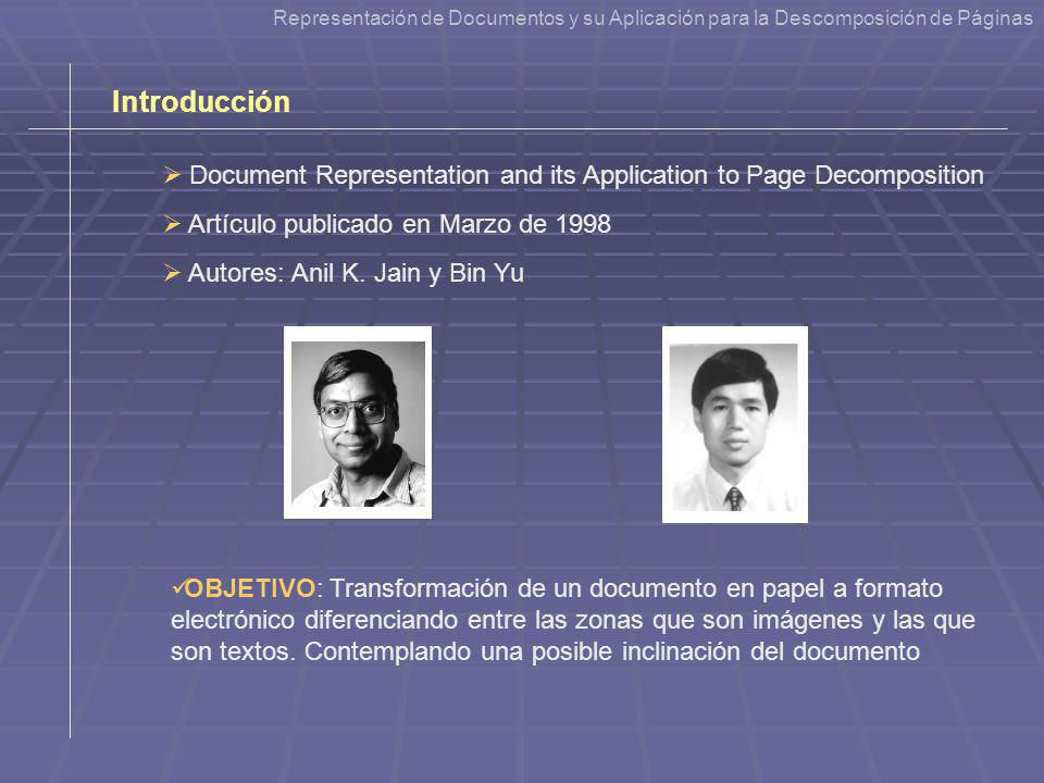 Document Representation and its Application to Page Decomposition