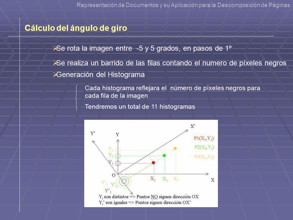 Cálculo del ángulo de giro